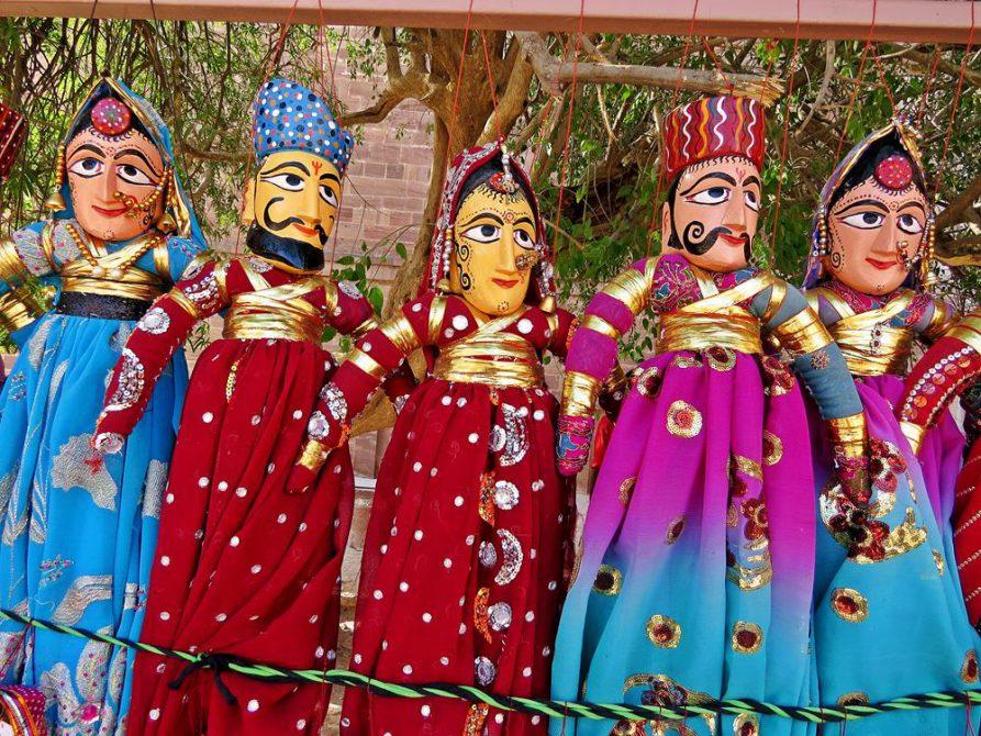 Marionetten, Rajasthan, Indien