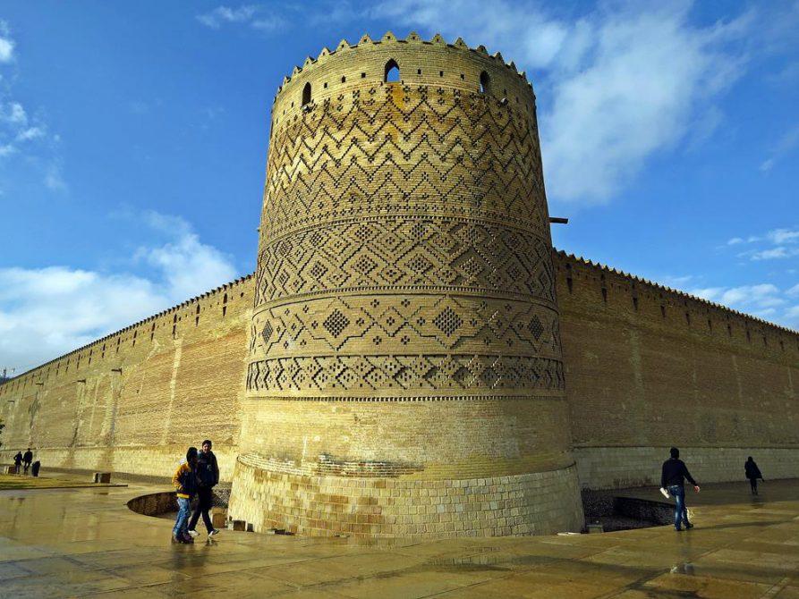 Festungsmauern der Arg-e Karim Khan, Schiras, Iran