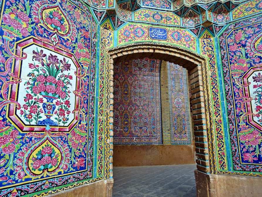 kunstvolle Kacheldekoration, Schiras, Iran