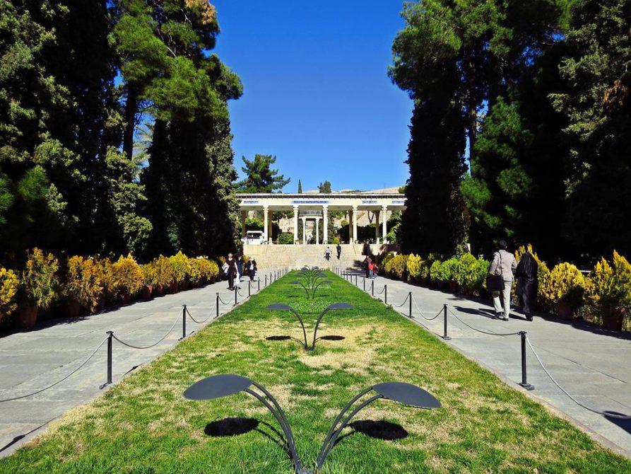 Garten rund um die Grabstätte des Hafez`,Schiras
