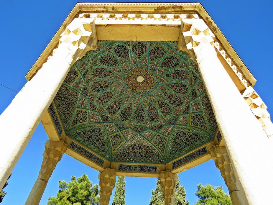 Kuppelmosaik über Hafez` Grabmal, Schiras