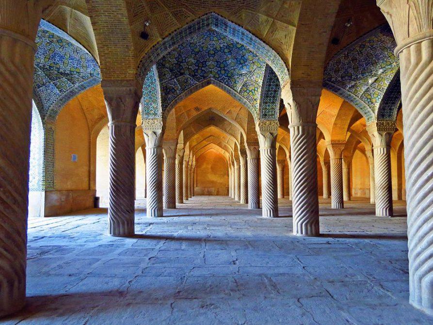 die Gebetshalle der Vakil Moschee, Schiras, Iran