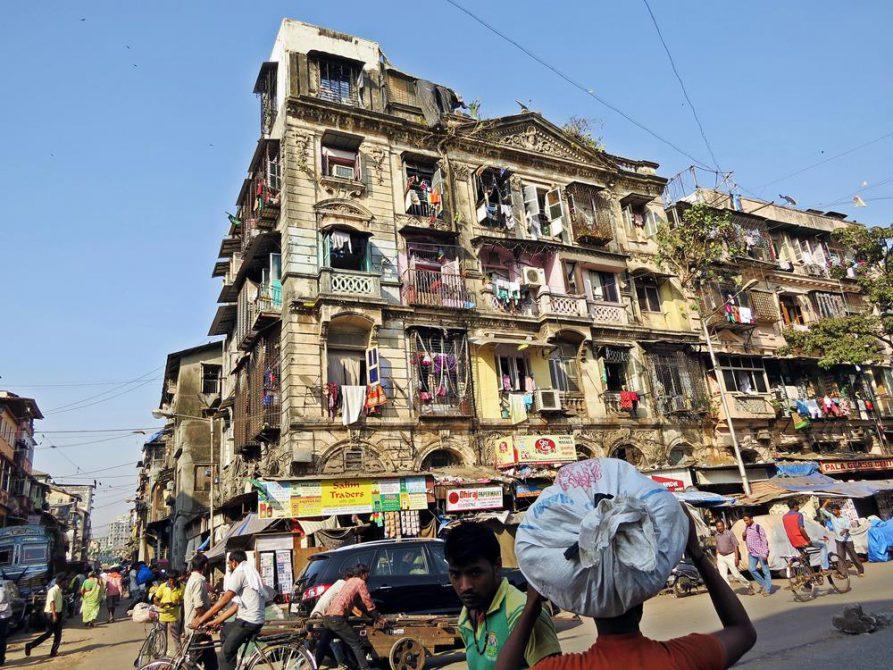 Straßenszene in Mumbai, Indien