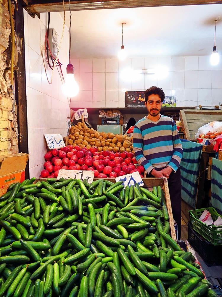 Gemüseverkäufer, Markt, Qazvin