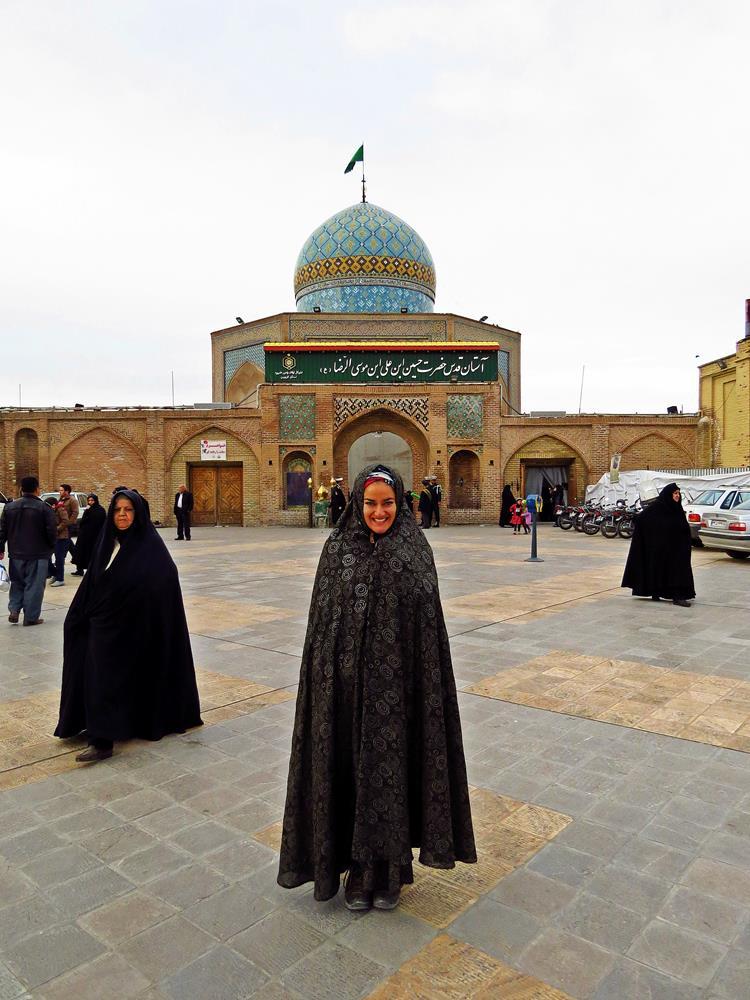 Frauen im Tschador am Hussein Schrein, Qazvin