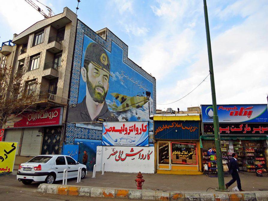 Wandbild für die gefallenen Soldaten des Iran-Irak Krieges