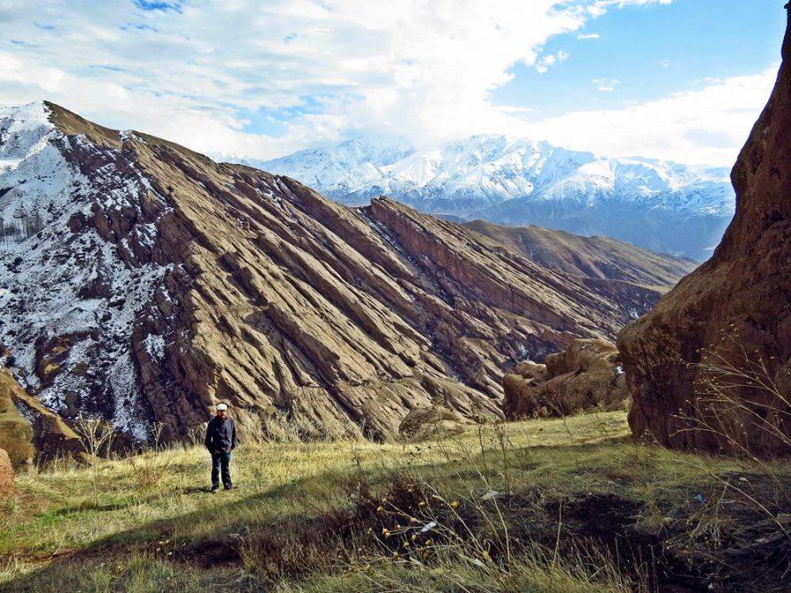Blick über die Berge im Alamut Tal