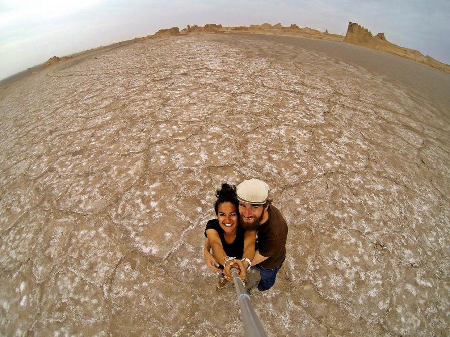 Kaluts in der Wüste Lut, Iran