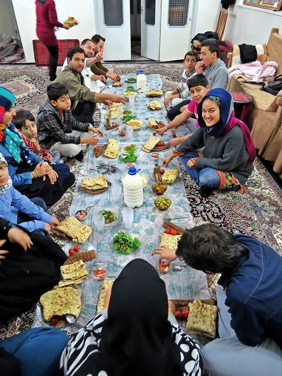 Familienessen in Ghom