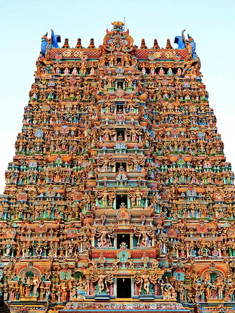 Tempel, Madurai, Inside Indien