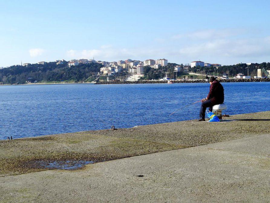 Angler in Sinop am Schwarzen Meer