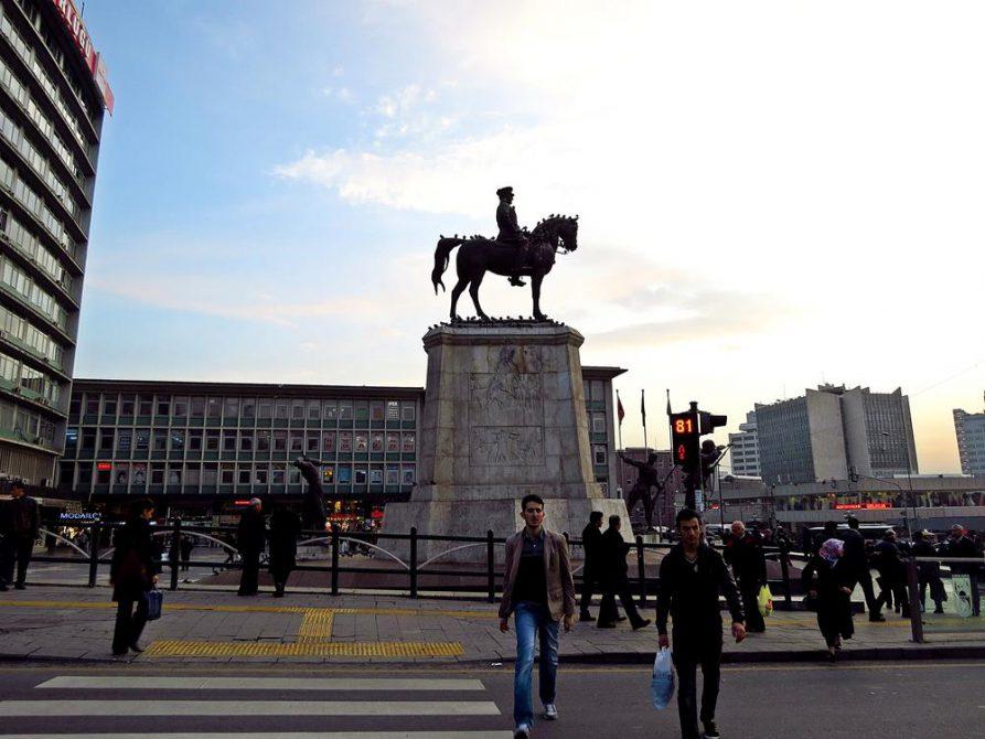 Reiterdenkmal Atatürks, Ankara, Türkei