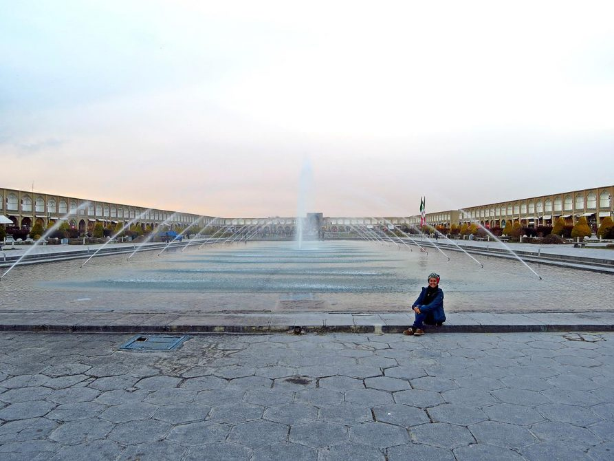 Wasserspiel auf dem Naqsh-e Jahan, Isfahan, Iran
