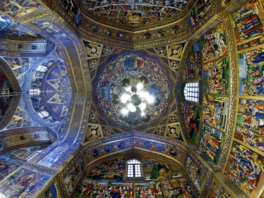 bemalte Kuppel der Vank Kathedrale, Isfahan, Iran