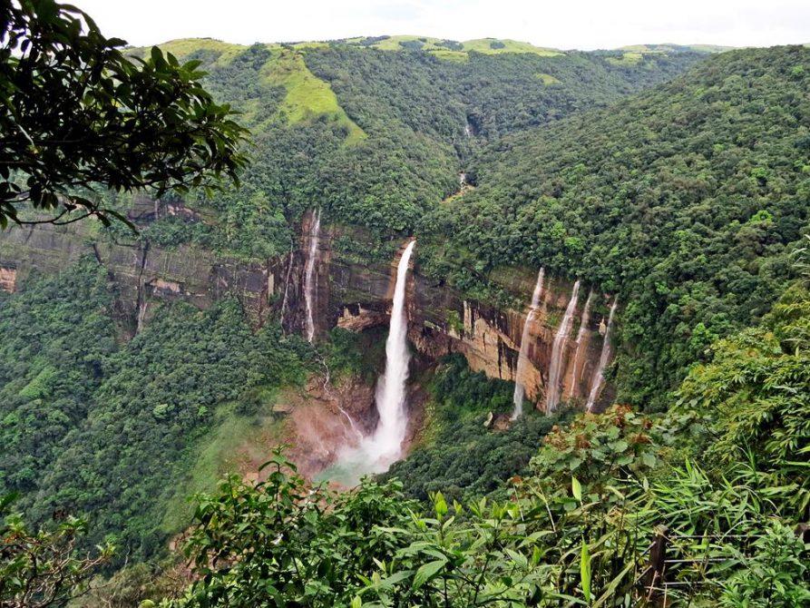 Nohkalikai-Wasserfall in Meghalaya