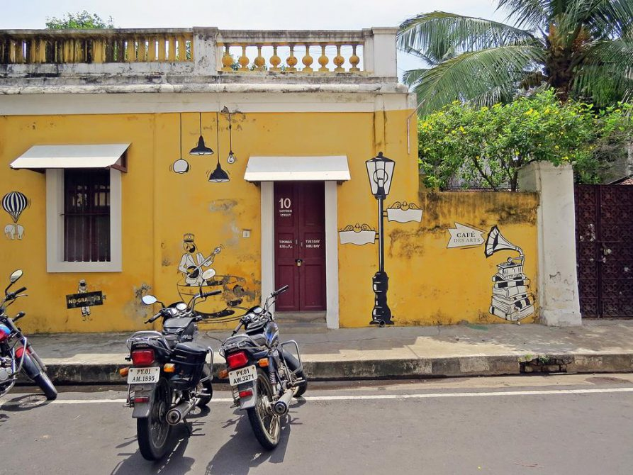 Streetart in Pondicherry im Süden Indiens