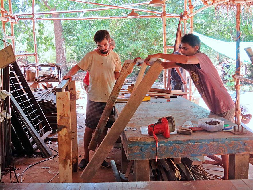 Tischerwerkstatt in Sacred Groves, Auroville