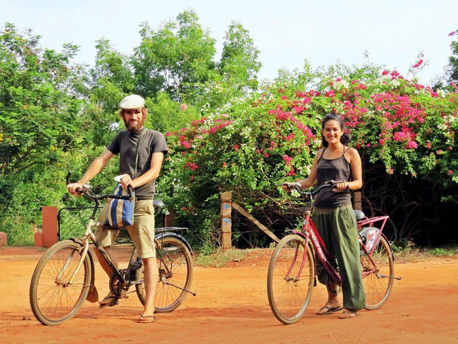 Auroville, Wege, Fahrradfahren