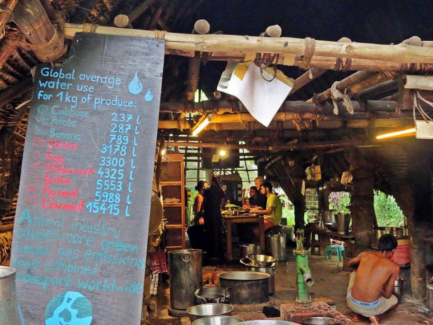 nach Wasserverbrauch aufgelistete Lebensmittel, Sadhana Forest, Auroville