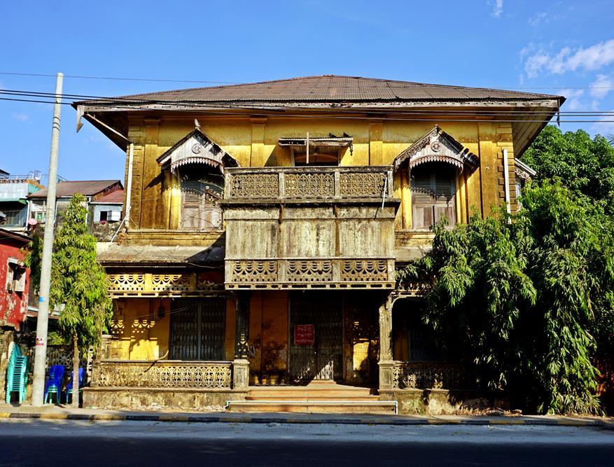 koloniales Gebäude in Mawlamyine, Myanmar