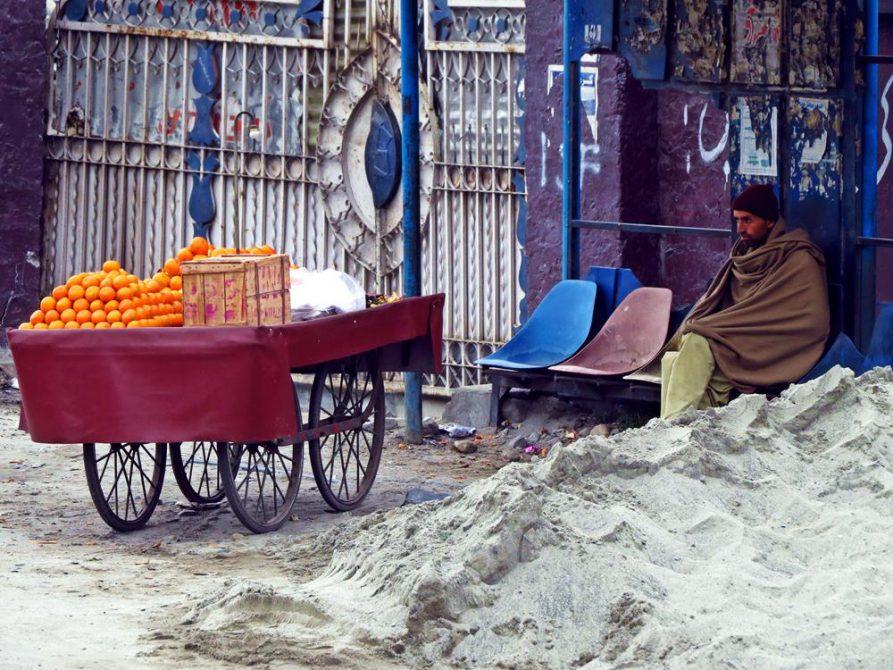 Orangenverkäufer, Gilgit, Pakistan