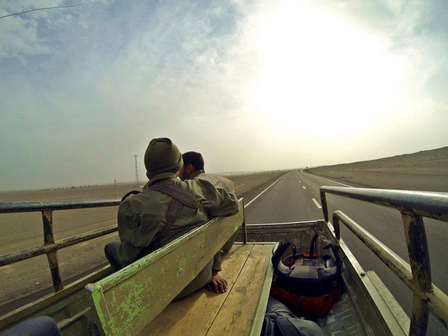 Eskorte durch die Wüste Lut, Iran