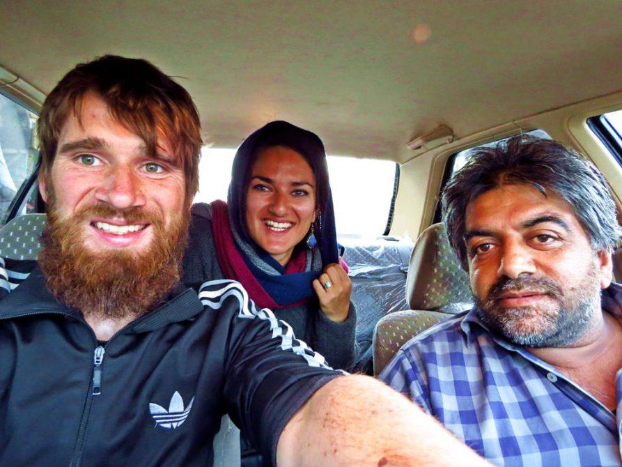 unsere Mitfahrgelegenheit nach Bam, Iran