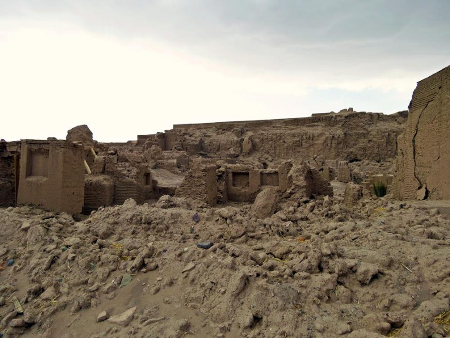 die Zitadelle von Bam nach dem Erdbeben, Arg-e Bam, Iran