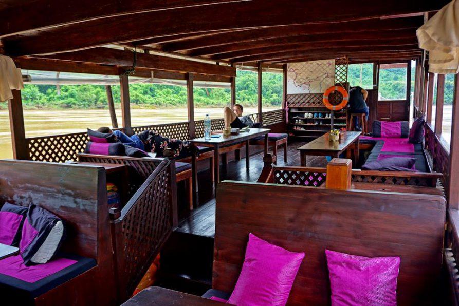 Barke auf dem Mekong, Laos