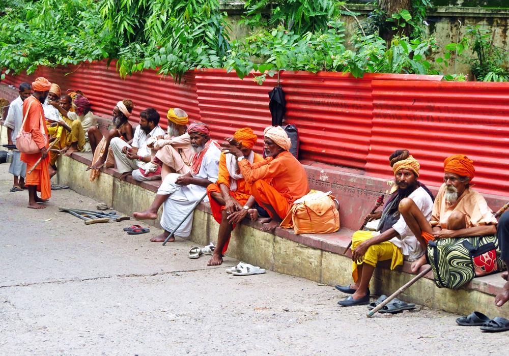Sadhus, Rishikesh, Indien