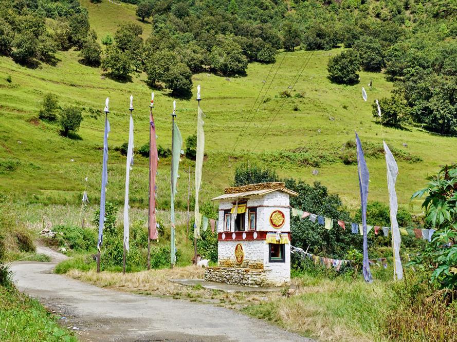 Gebetsmühle, Sangti, Arunachal Pradesh