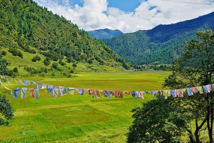 Gebetsfahnen, Sangti, Arunachal Pradesh