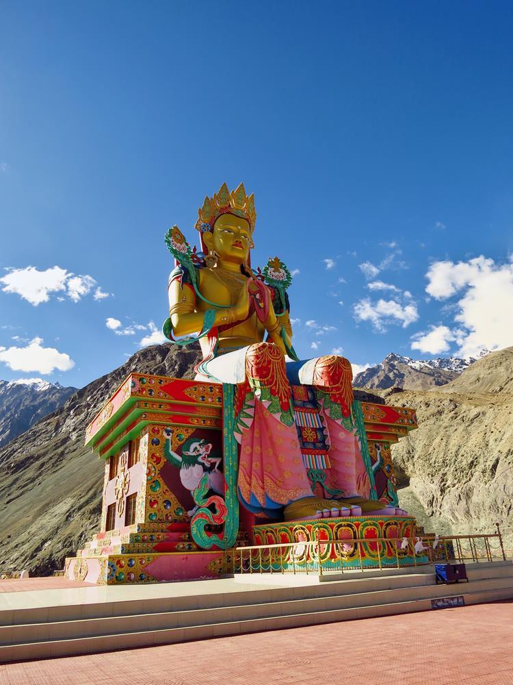 Maitreya-Statue in Diskit, Ladakh
