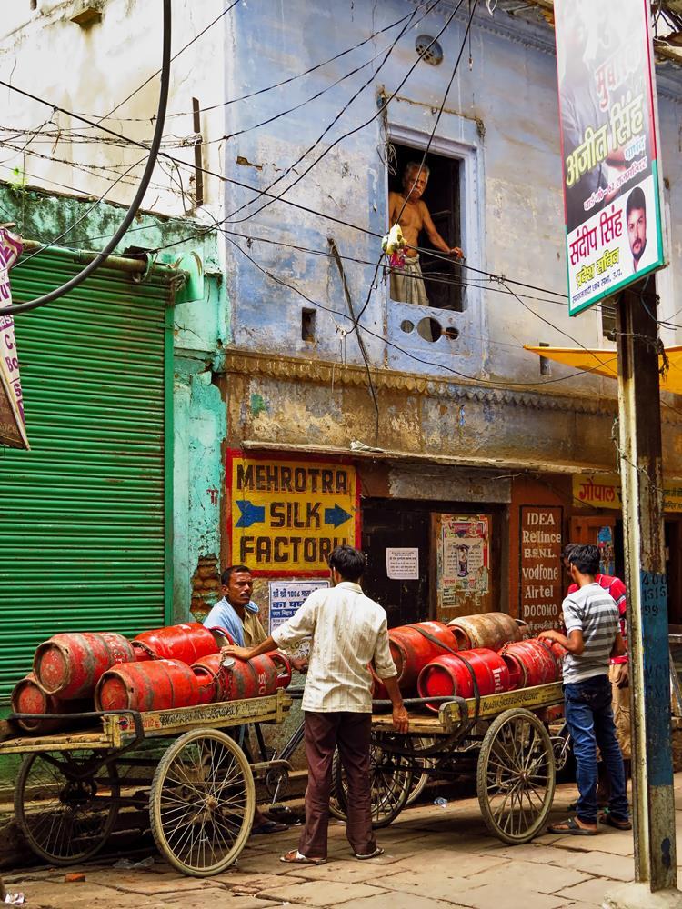 Altstadtszene in Varanasi