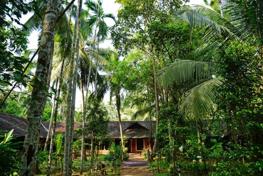 Behandlungsräume im Garten, Ayurveda Mana, Kerala