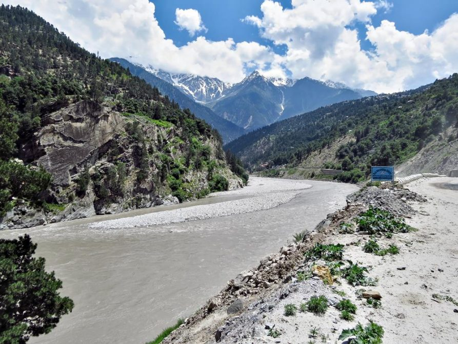Satluj Fluss in Himashal Pradesh