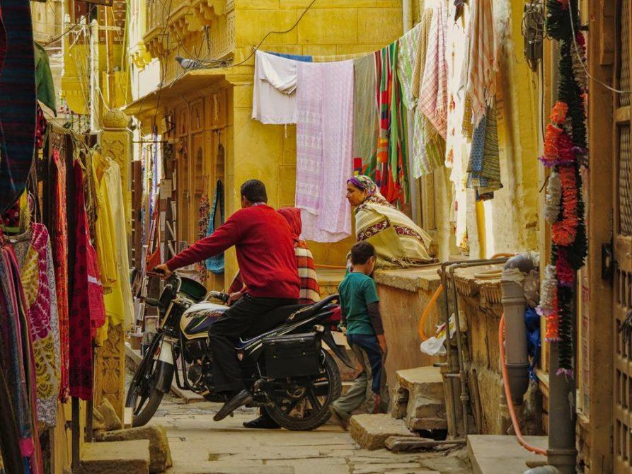 historische Gassen, Jaisalmer, Rajasthan, Indien
