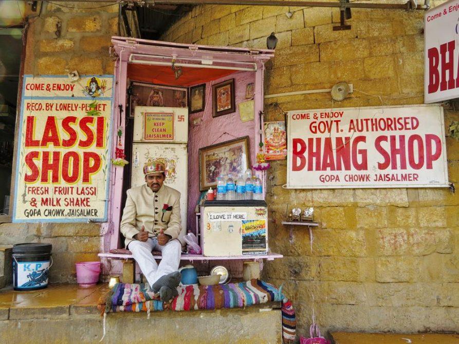 Lassi Shop, Jaisalmer, Rajasthan, Indien