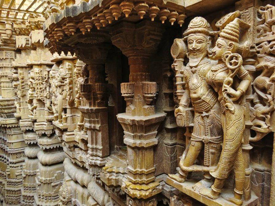 Tempel, Jaisalmer, Rajasthan, Indien