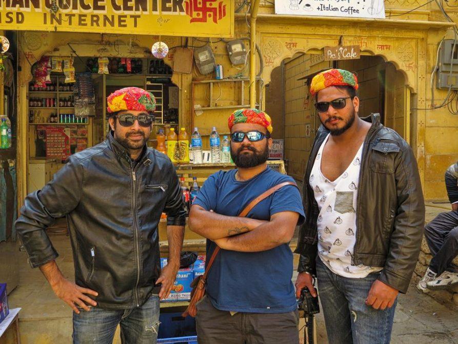 Touristen in Jaisalmer, Rajasthan, Indien