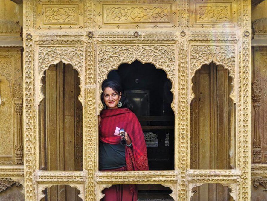 junge Frau in Jaisalmer, Rajasthan, Indien