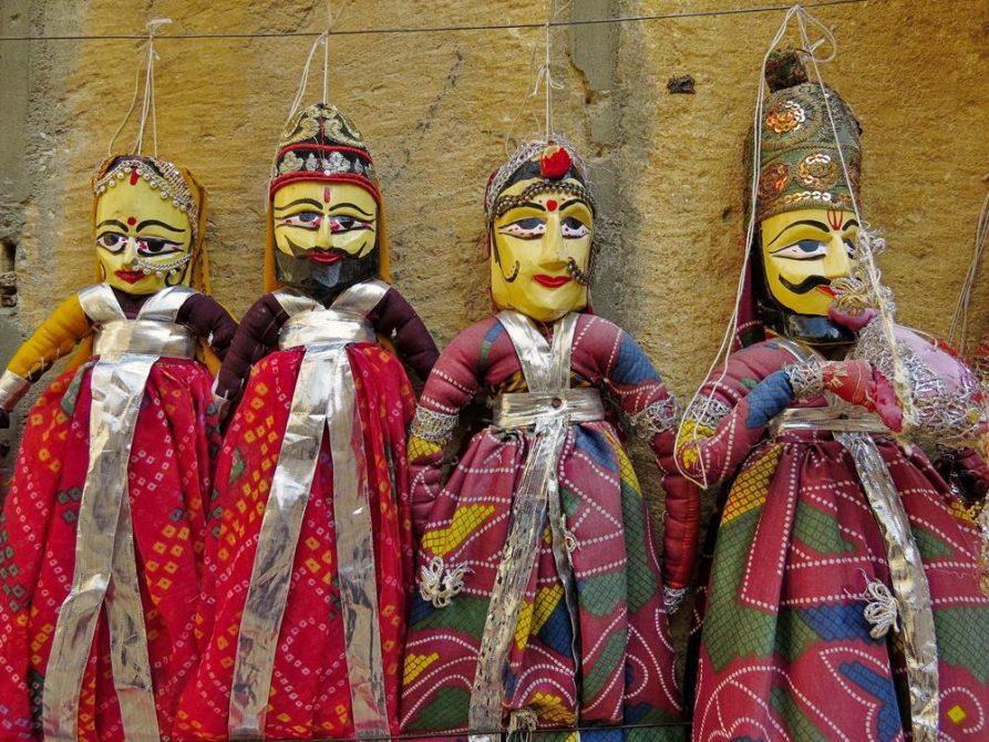 Marionetten, Jaisalmer, Rajasthan, Indien