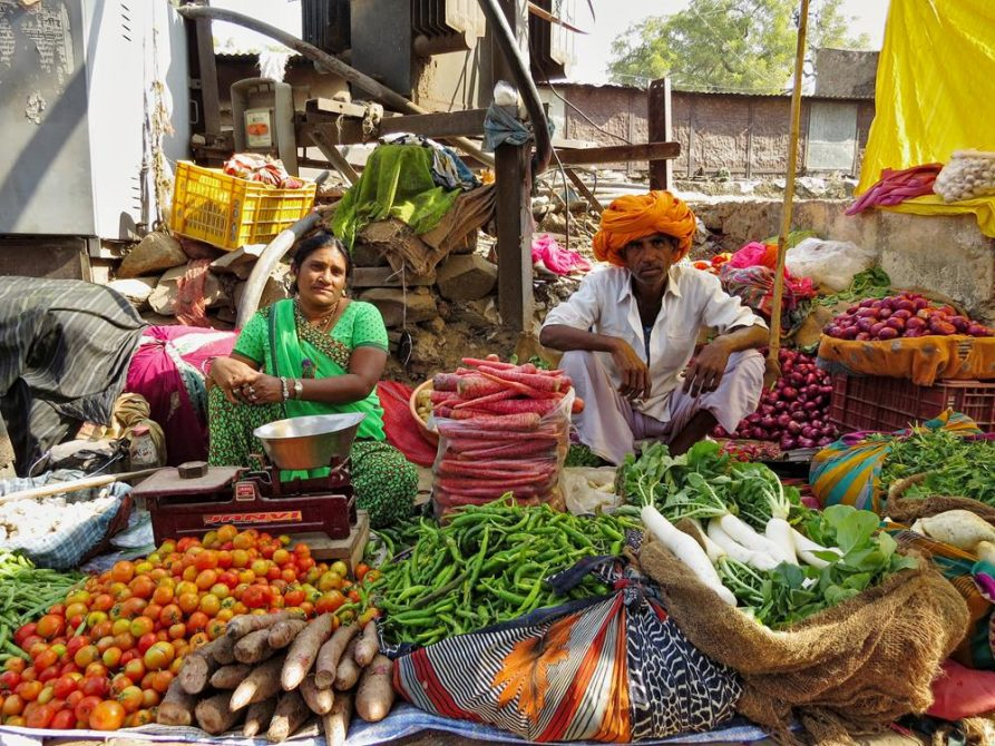 Marktverkäufer, Bundi, Rajasthan