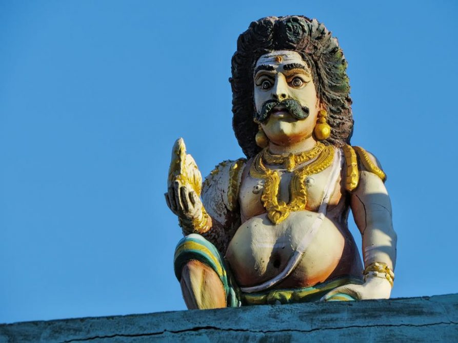 Tempelwächter in Kanyakumari