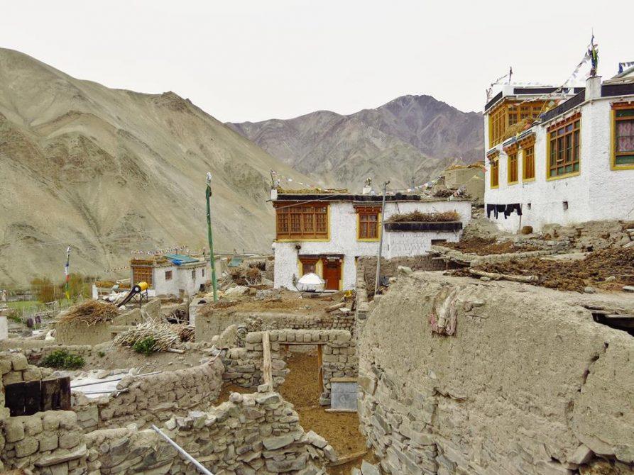 Siedlung im Hochgebirge, Ladakh, Indien