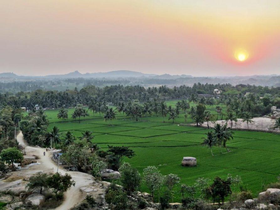 Sonnenuntergang, Hampi, Indien