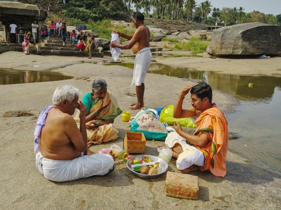 Leben am Fluss, Hampi, Indien