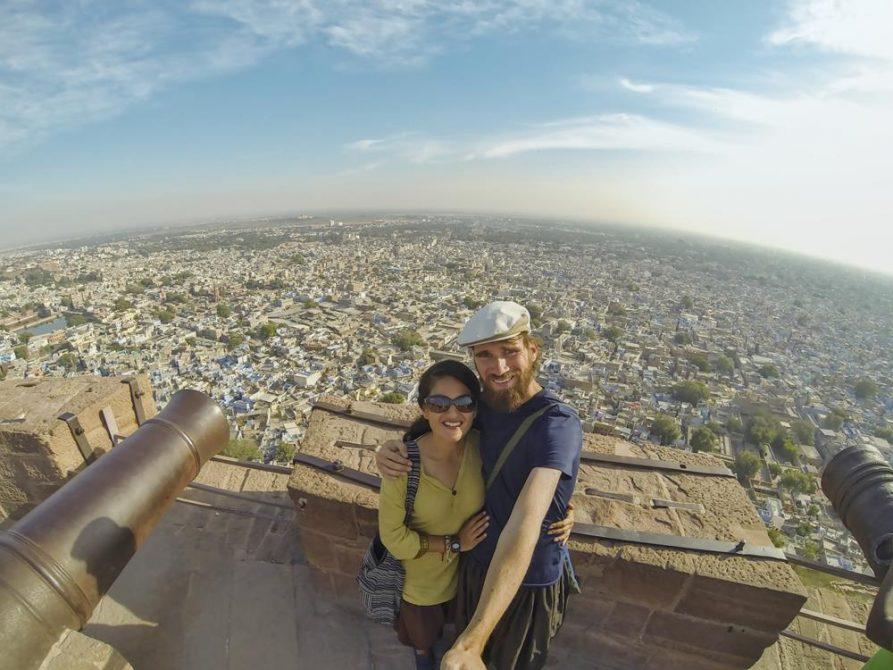 Paar vor Jodhpur, Rajasthan