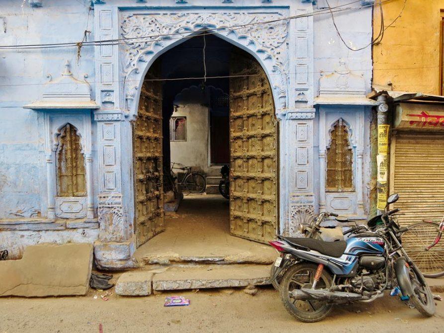 blaue Fassaden in Jodhpur, Rajasthan