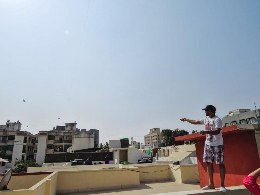 über den Dächern von Ahmedabad, Indien